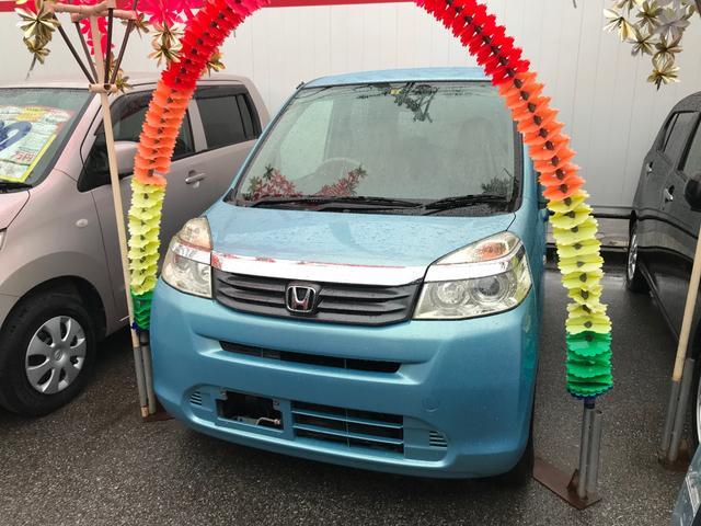 沖縄の中古車 ホンダ ライフ 車両価格 37万円 リ済込 2011(平成23)年 7.0万km ライトブルー