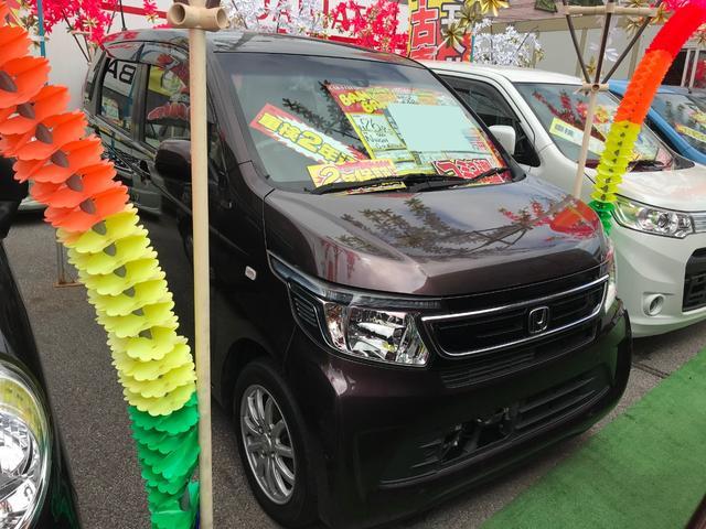 沖縄の中古車 ホンダ N-WGN 車両価格 66万円 リ済込 2014(平成26)年 6.9万km パープル