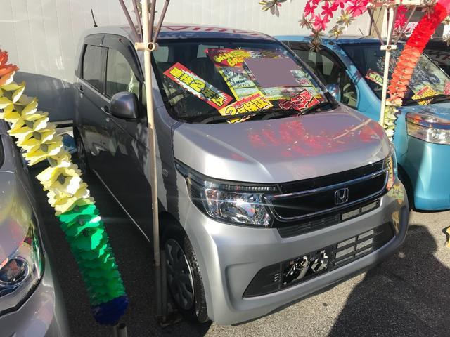 沖縄の中古車 ホンダ N-WGN 車両価格 57万円 リ済込 2014(平成26)年 8.1万km シルバー