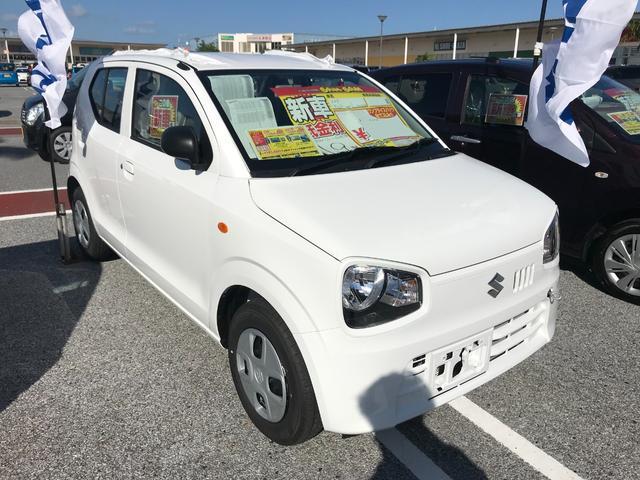 沖縄の中古車 スズキ アルト 車両価格 97.2万円 リ未 新車  ホワイト