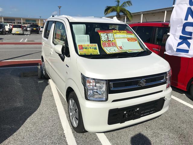 沖縄の中古車 スズキ ワゴンR 車両価格 118.7万円 リ未 新車  ピュアホワイトパール