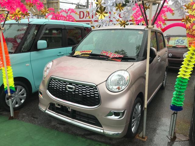 沖縄の中古車 ダイハツ キャスト 車両価格 91万円 リ済込 2017(平成29)年 1.7万km ピンク