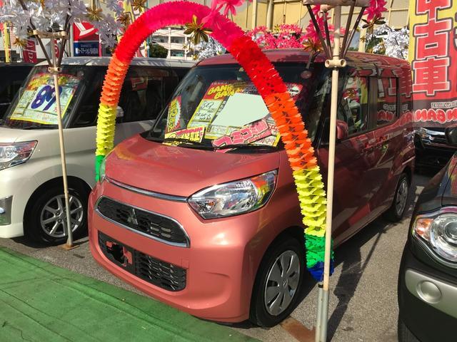 沖縄の中古車 三菱 eKスペース 車両価格 61万円 リ済込 2017(平成29)年 3.0万km ピンク