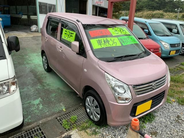 沖縄の中古車 スズキ ワゴンR 車両価格 33万円 リ済込 2013(平成25)年 9.6万km ピンク