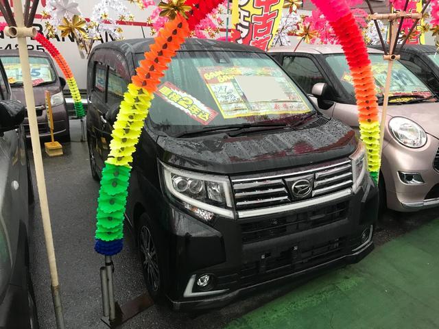 沖縄の中古車 ダイハツ ムーヴ 車両価格 81万円 リ済込 2015(平成27)年 5.1万km ブラックマイカメタリック