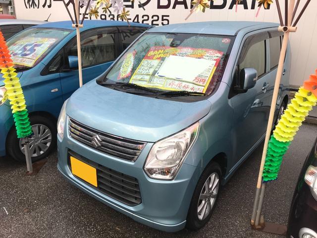 沖縄の中古車 スズキ ワゴンR 車両価格 47万円 リ済込 2014(平成26)年 7.3万km ライトブルー