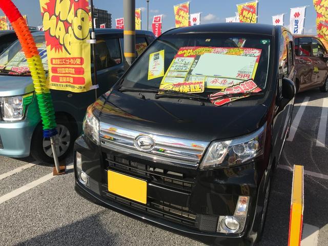 沖縄の中古車 ダイハツ ムーヴ 車両価格 64万円 リ済込 2013(平成25)年 7.5万km ブラックマイカメタリック