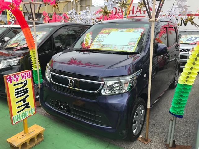 沖縄の中古車 ホンダ N-WGN 車両価格 61万円 リ済込 2014(平成26)年 8.3万km ダークブルー