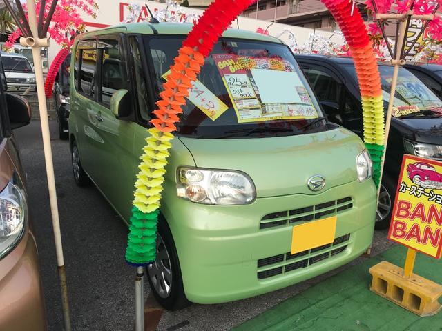 沖縄の中古車 ダイハツ タント 車両価格 49万円 リ済込 2013(平成25)年 7.7万km Lグリーン