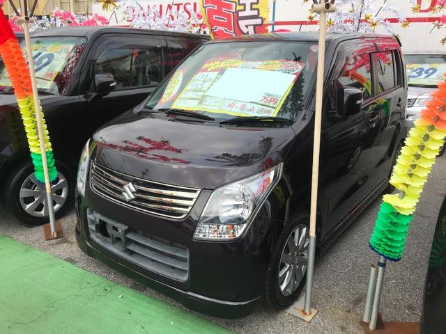 沖縄の中古車 スズキ ワゴンR 車両価格 41万円 リ済込 2012(平成24)年 8.3万km ミステリアスバイオレットパール