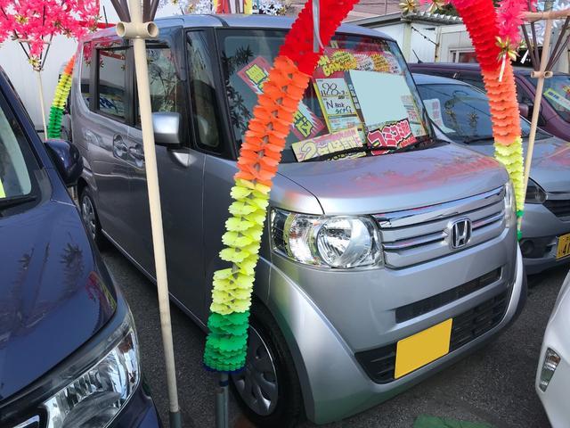 沖縄の中古車 ホンダ N-BOX 車両価格 69万円 リ済込 2016(平成28)年 7.8万km シルバー