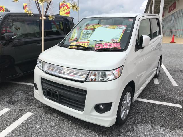 沖縄県の中古車ならワゴンRスティングレー X フルセグナビ HID