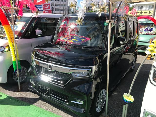 沖縄県の中古車ならN-BOXカスタム G・Lホンダセンシング フルセグナビ ブルートゥース バックモニター ドライブレコーダー