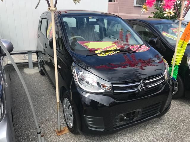 沖縄の中古車 三菱 eKワゴン 車両価格 41万円 リ済込 2015(平成27)年 8.4万km ブラック