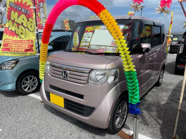 沖縄の中古車 ホンダ N-BOX 車両価格 59万円 リ済込 2013(平成25)年 8.0万km ピンク