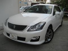 沖縄の中古車 トヨタ クラウン 車両価格 119万円 リ済込 平成20年 9.1万K パールホワイト