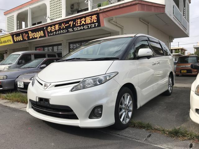 沖縄の中古車 トヨタ エスティマ 車両価格 109万円 リ済別 2011(平成23)年 7.4万km パール