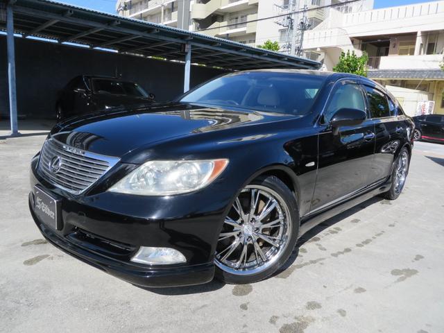 沖縄の中古車 レクサス LS 車両価格 99万円 リ済込 平成19年 13.9万km ブラック
