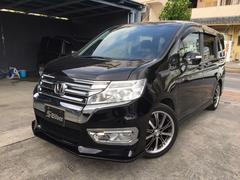 沖縄の中古車 ホンダ ステップワゴンスパーダ 車両価格 128万円 リ済込 平成22年 9.3万K ブラック