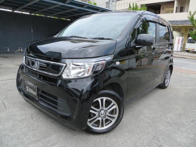 沖縄の中古車 ホンダ N-WGN 車両価格 74万円 リ済込 2015(平成27)年 2.7万km ブラックM
