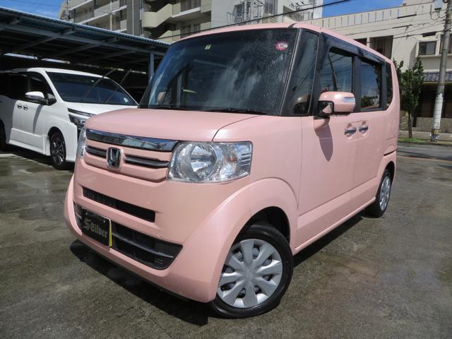 沖縄の中古車 ホンダ N-BOX 車両価格 119万円 リ済込 2017(平成29)年 2.4万km ピンク
