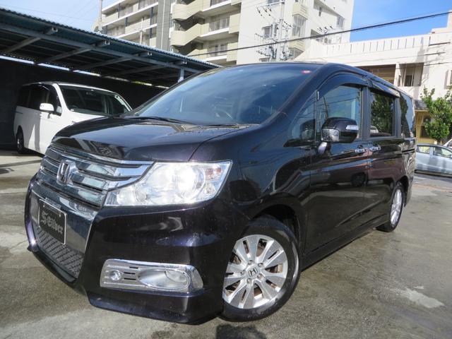 沖縄の中古車 ホンダ ステップワゴンスパーダ 車両価格 105万円 リ済込 2012(平成24)年 8.8万km ブラック