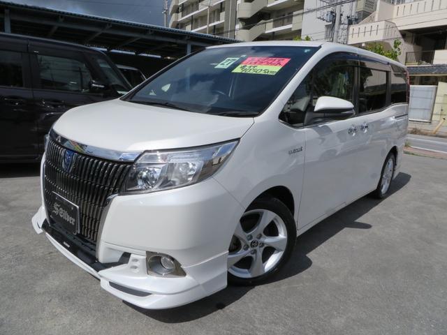 沖縄の中古車 トヨタ エスクァイア 車両価格 175万円 リ済込 2015(平成27)年 9.1万km パールホワイト