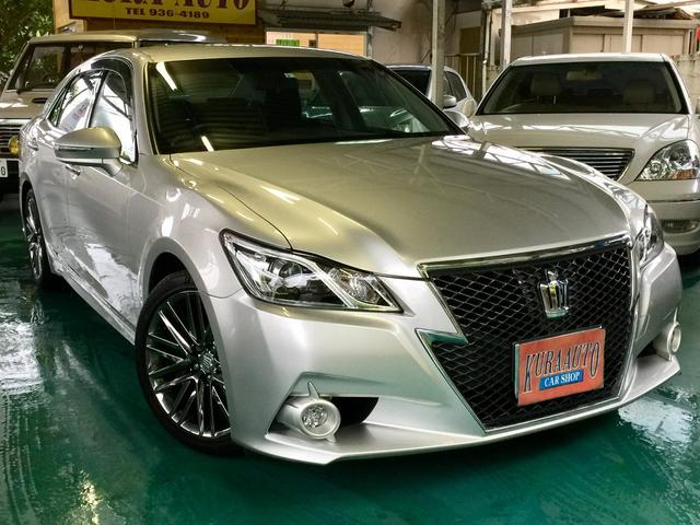沖縄の中古車 トヨタ クラウン 車両価格 189万円 リ済別 2013(平成25)年 8.2万km シルバーM