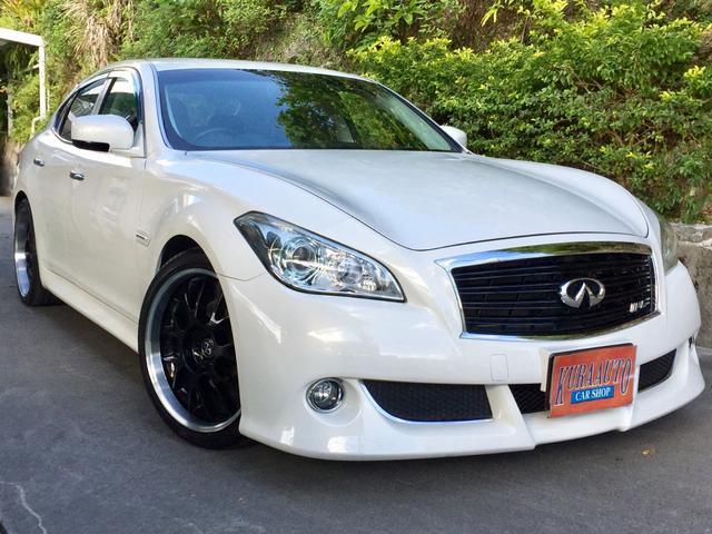 沖縄の中古車 日産 フーガ 車両価格 115万円 リ済別 2011(平成23)年 15.2万km パールホワイト