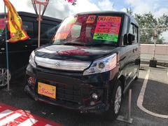 沖縄の中古車 スズキ スペーシアカスタム 車両価格 93万円 リ済込 平成26年 5.0万K ブラック