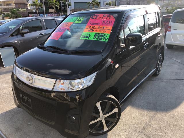 沖縄の中古車 マツダ AZワゴンカスタムスタイル 車両価格 33万円 リ済込 平成22年 12.7万km ブラック