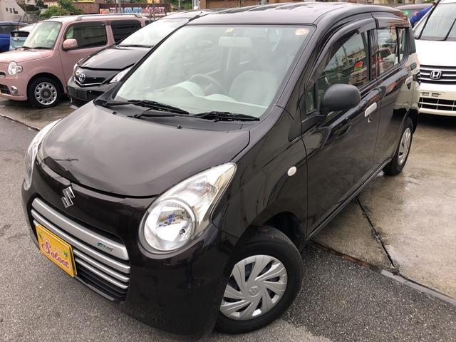 沖縄の中古車 スズキ アルトエコ 車両価格 56万円 リ済込 平成26年 5.3万km ブラウン