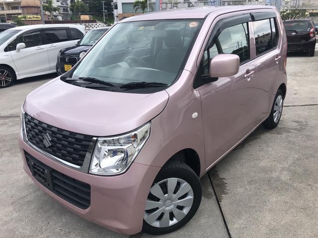 沖縄の中古車 スズキ ワゴンR 車両価格 73万円 リ済込 2016(平成28)年 2.2万km ピンク