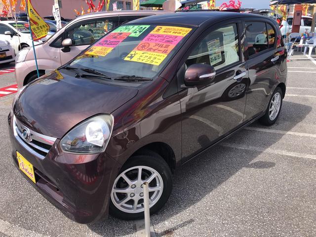 沖縄の中古車 ダイハツ ミライース 車両価格 53万円 リ済込 2012(平成24)年 2.0万km ブラウン
