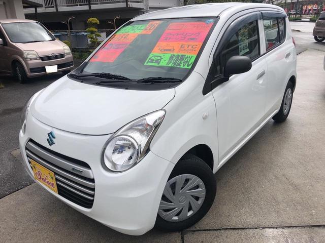 沖縄の中古車 スズキ アルトエコ 車両価格 53万円 リ済込 平成26年 5.9万km ホワイト