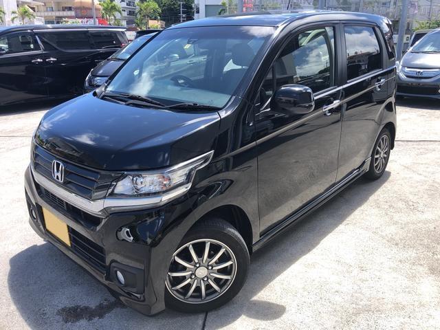 沖縄の中古車 ホンダ N-WGNカスタム 車両価格 86万円 リ済込 2015(平成27)年 5.6万km ブラック