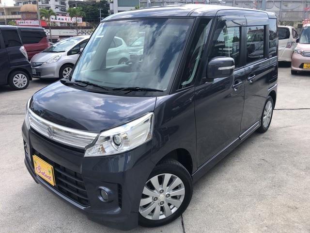 沖縄の中古車 スズキ スペーシアカスタム 車両価格 82万円 リ済込 2013(平成25)年 7.2万km グレー