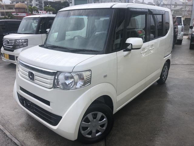 沖縄の中古車 ホンダ N-BOX 車両価格 83万円 リ済込 2013(平成25)年 7.6万km パール