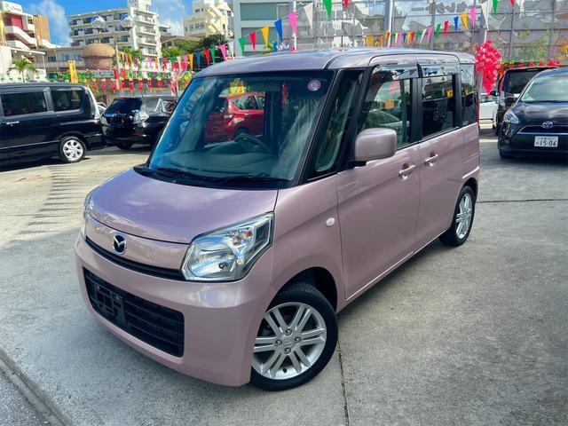 沖縄の中古車 マツダ フレアワゴン 車両価格 63万円 リ済込 2013(平成25)年 6.8万km ピンク