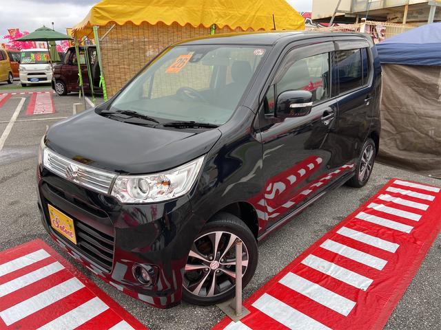 沖縄の中古車 スズキ ワゴンRスティングレー 車両価格 69万円 リ済込 2014(平成26)年 7.1万km ブラック