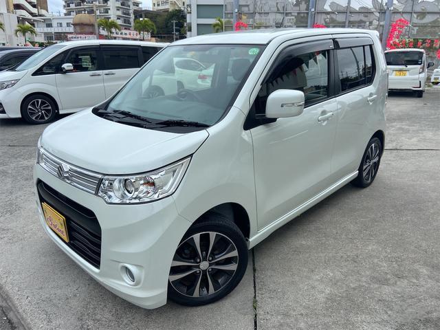 沖縄の中古車 スズキ ワゴンRスティングレー 車両価格 76万円 リ済込 2013(平成25)年 3.7万km パール