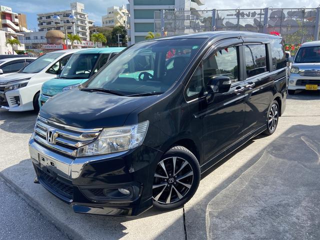 沖縄の中古車 ホンダ ステップワゴンスパーダ 車両価格 144万円 リ済込 2013(平成25)年 7.7万km ブラック