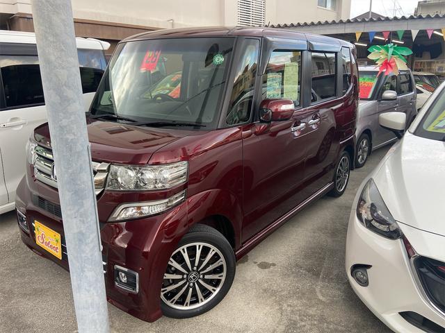 沖縄の中古車 ホンダ N-BOXカスタム 車両価格 119万円 リ済込 2016(平成28)年 3.2万km レッド