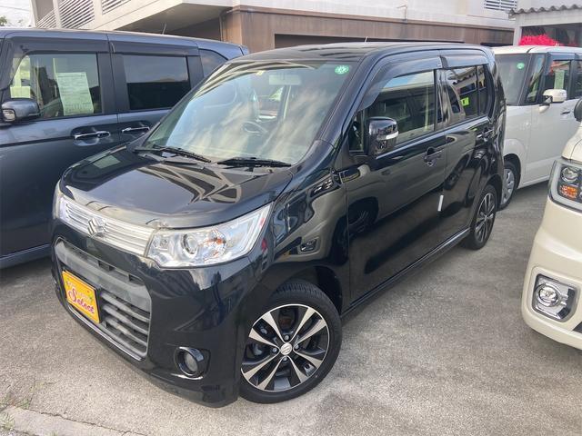 沖縄県の中古車ならワゴンRスティングレー T 2年保証 ターボ車 TVナビ オートライト パドルシフト プッシュスタート アイドリングストップ スマートキー