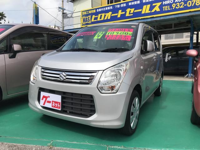 沖縄の中古車 スズキ ワゴンR 車両価格 47万円 リ済込 平成25年 9.7万km シルバー