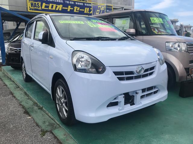沖縄の中古車 ダイハツ ミライース 車両価格 43万円 リ済込 平成24年 5.0万km ライトブルー