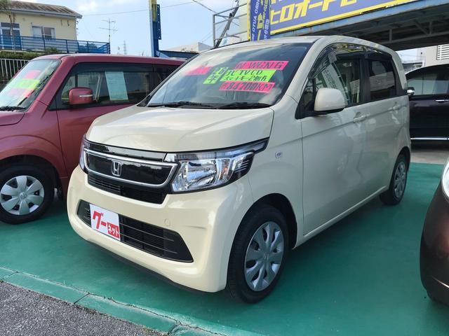 沖縄の中古車 ホンダ N-WGN 車両価格 56万円 リ済込 2014(平成26)年 8.5万km ベージュ
