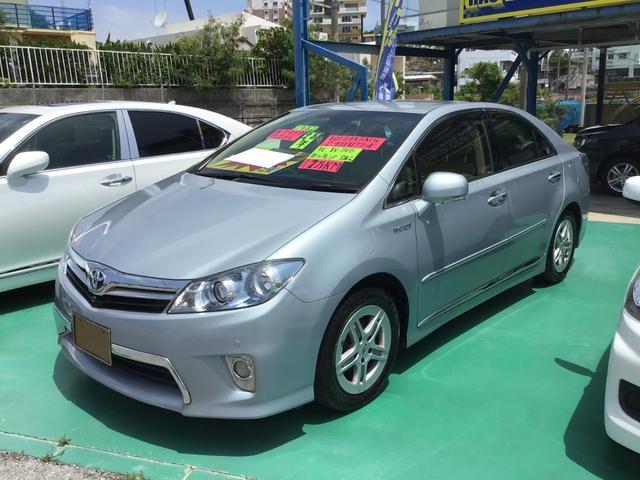 沖縄の中古車 トヨタ SAI 車両価格 79万円 リ済込 2013(平成25)年 7.0万km ライトブルー