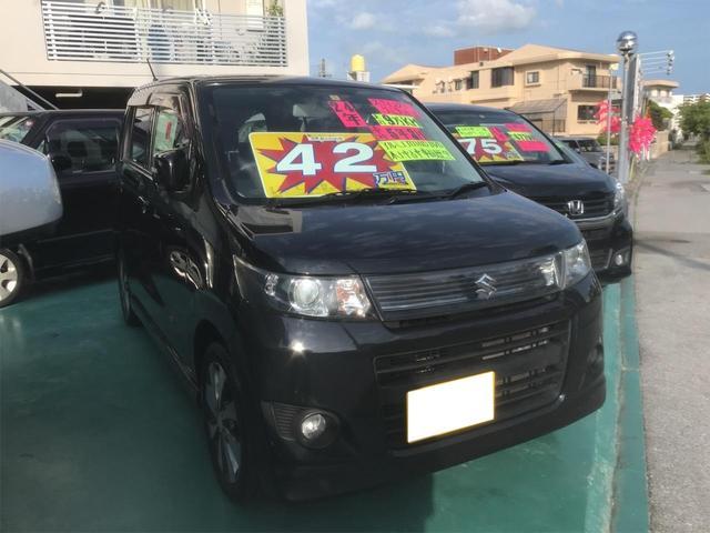 沖縄の中古車 スズキ ワゴンRスティングレー 車両価格 39万円 リ済込 2012(平成24)年 9.0万km ブラック
