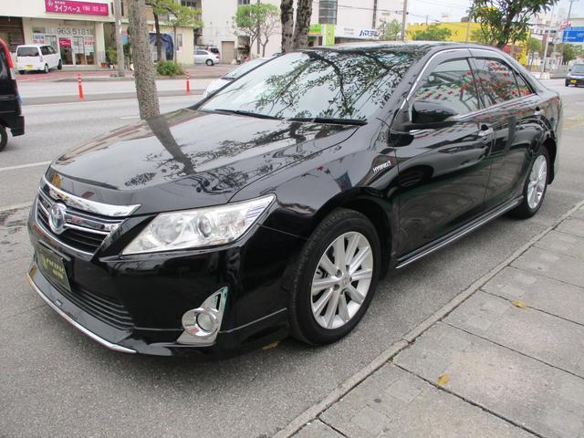 沖縄の中古車 トヨタ カムリ 車両価格 162万円 リ済込 2012(平成24)年 6.7万km ブラック